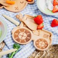 Tractor Bamboo Plate - Red Candy