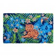 Tropical Tiger Doormat - Red Candy