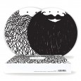 Hubert & George Plate Set - novelty beard plates
