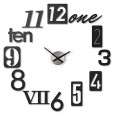 Umbra Numbra Black Wall Clock - black numeric hands clock