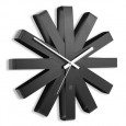 Umbra Ribbon Wall Clock (Black) - Red Candy