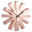 Umbra Ribbon Wall Clock - Copper - metallic sunburst clock