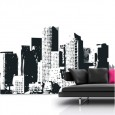 New York Cityscape Wall Sticker - Red Candy