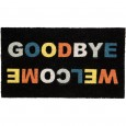 Welcome & Goodbye Doormat - Red Candy