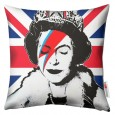 Queenie Cushion – graffiti art print cushion