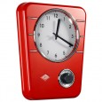 Wesco Classic Line Kitchen Clock - Red - retro clock with timer