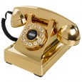 Wild and Wolf 302 Desk Phone - Gold - metallic retro telephone