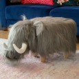 Wilma the Woolly Mammoth Footstool - Red Candy
