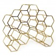 Pico 15 Stackable Wine Rack (Brass) - Red Candy