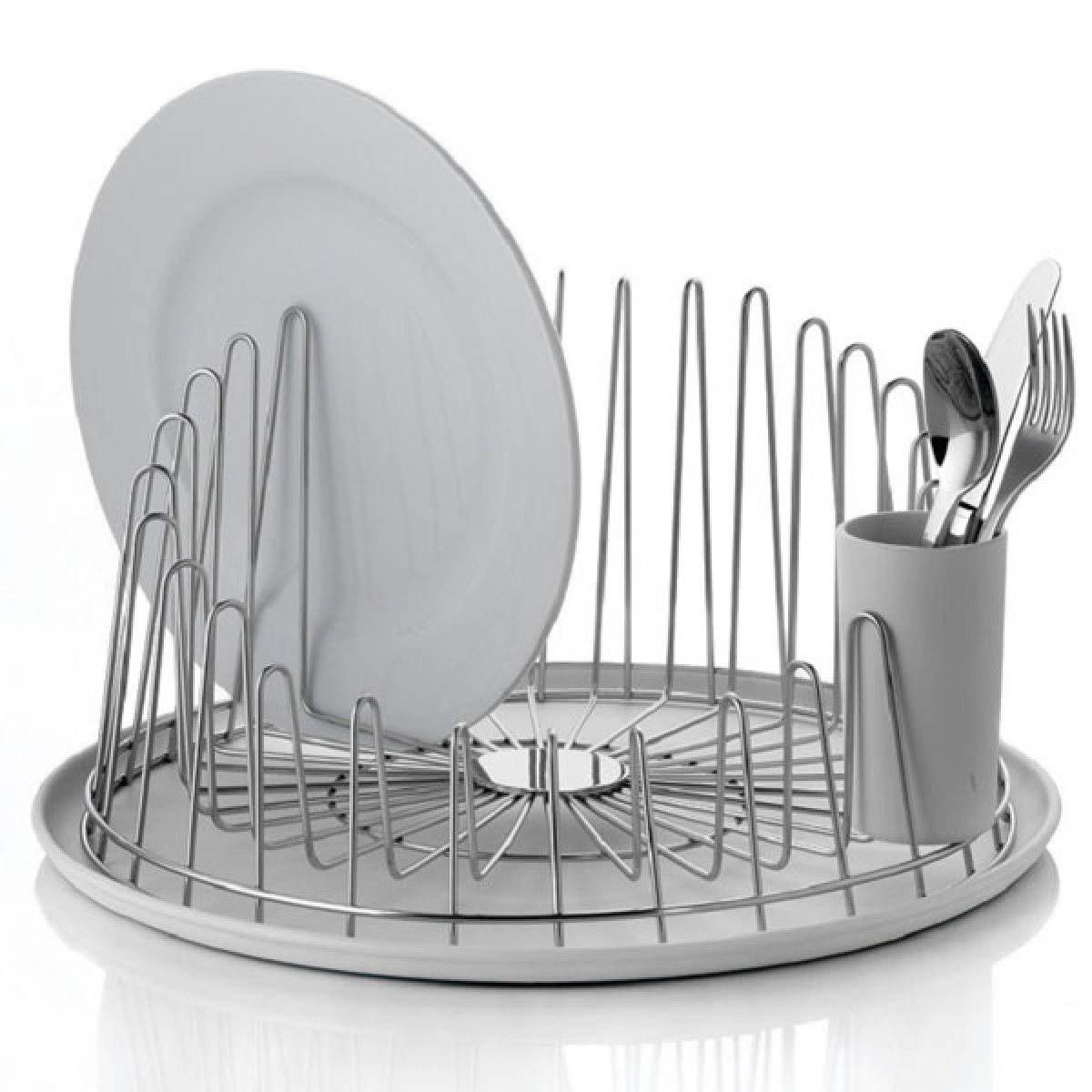 Alessi A Tempo Dish Drainer & Tray - Red Candy