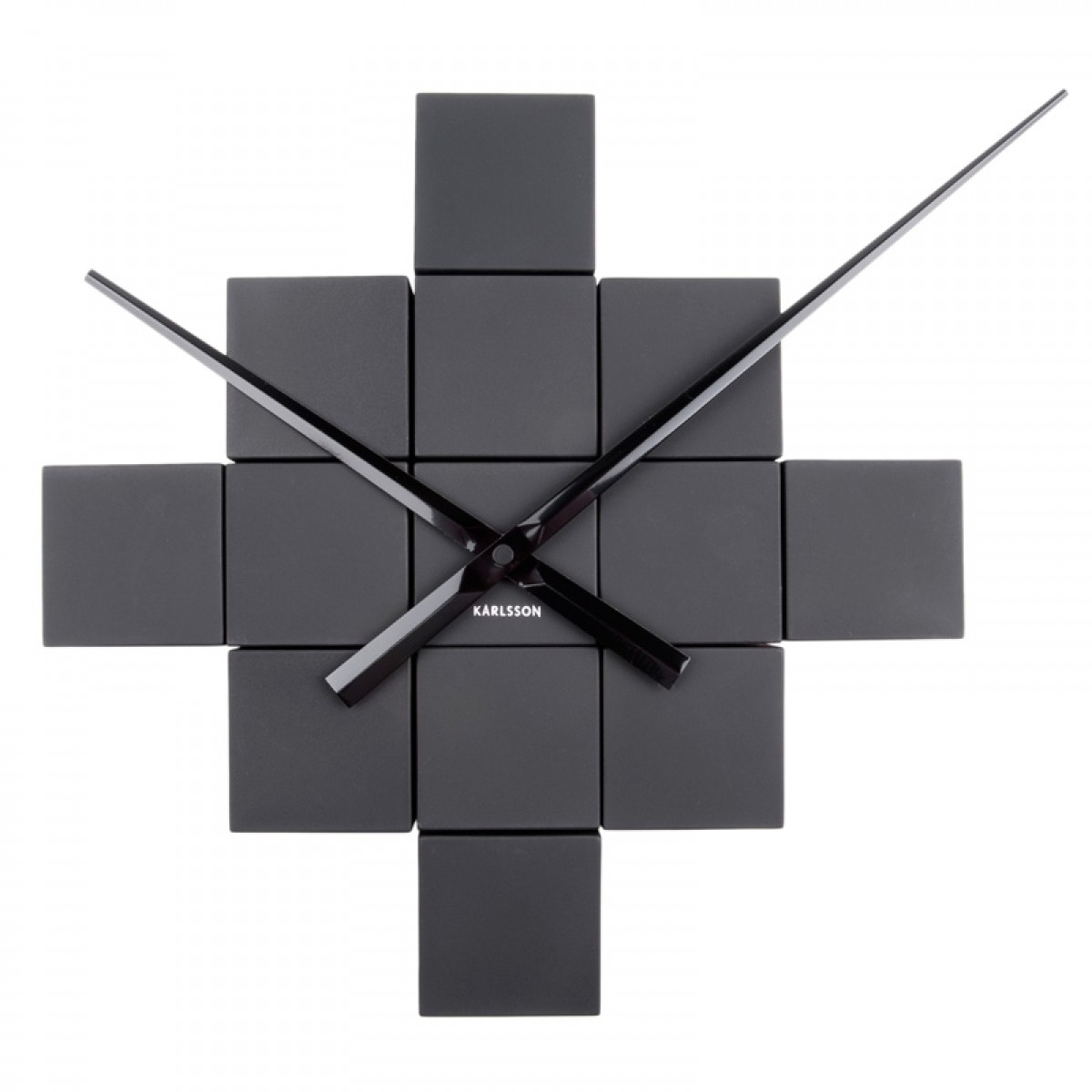 Cubic wall clock image collections home wall decoration ideas karlsson diy cubic wall clock black modular wall clock amipublicfo image collections amipublicfo Images