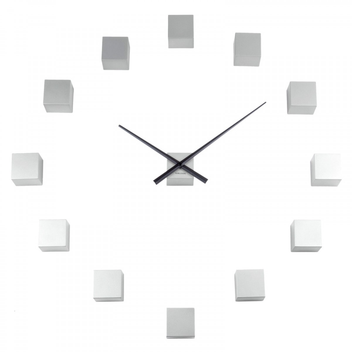 Karlsson diy cubic wall clock gallery home wall decoration ideas karlsson diy cubic wall clock silver modular cube clock amipublicfo gallery amipublicfo Images