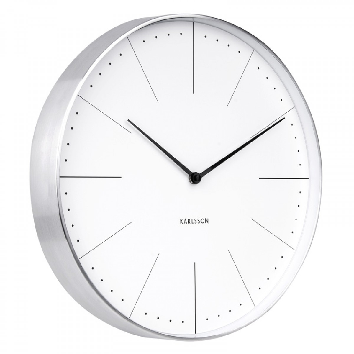 Mr white numbers wall clock large white designer timepiece karlsson normann wall clock amipublicfo Images