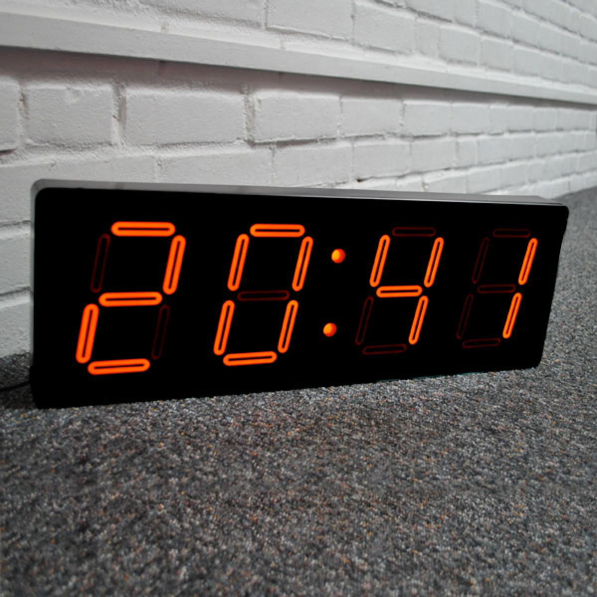 Nextime big d clock large digital statement wall clock amipublicfo Image collections