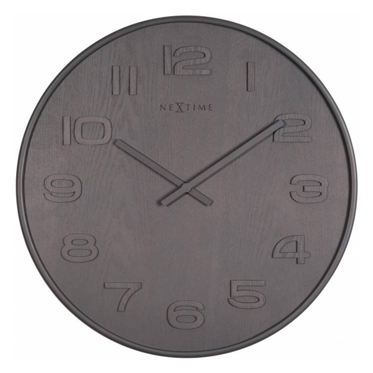 Nextime wall clocks red candy nextime wood wood medium clock grey amipublicfo Images