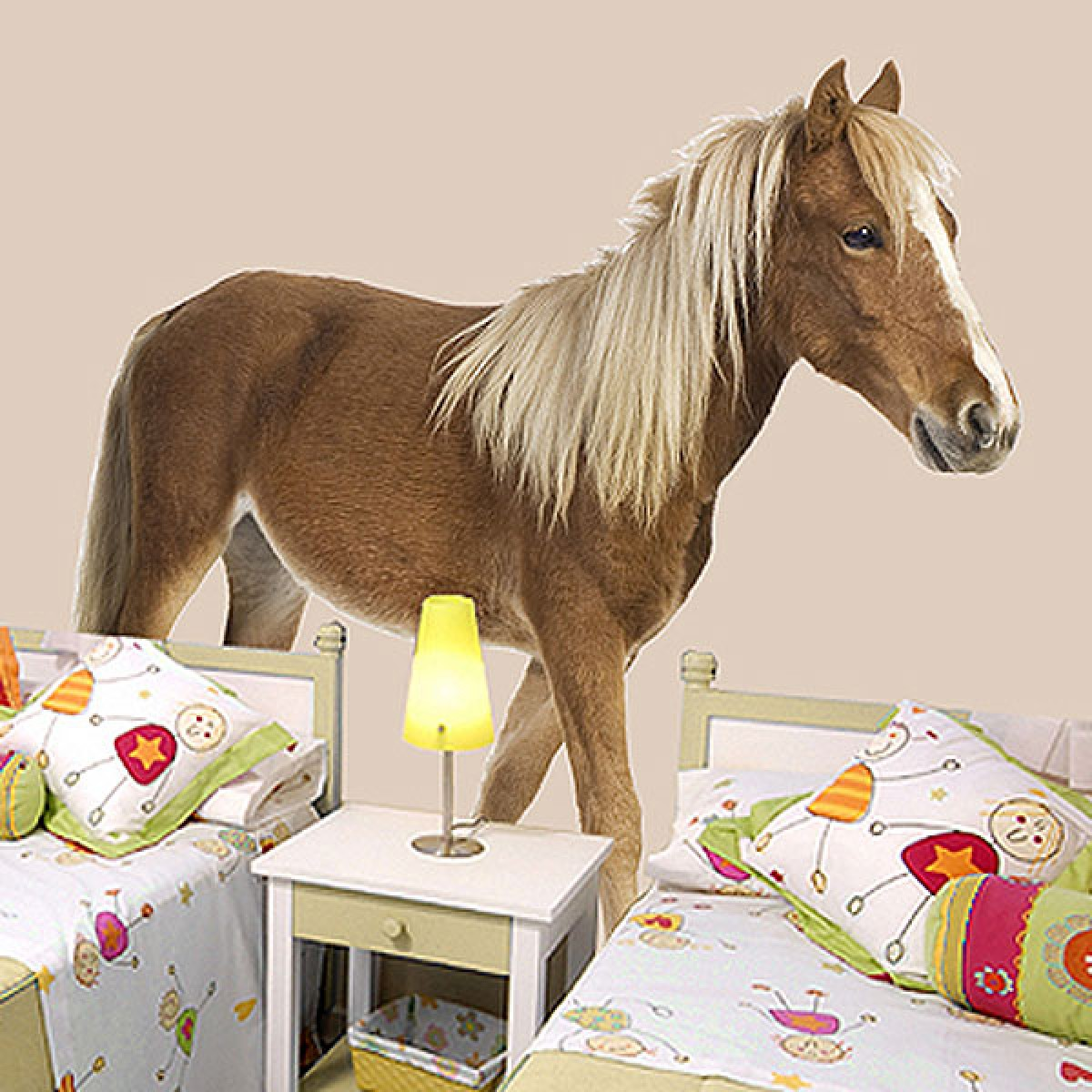 pony wall sticker large horse wall decal