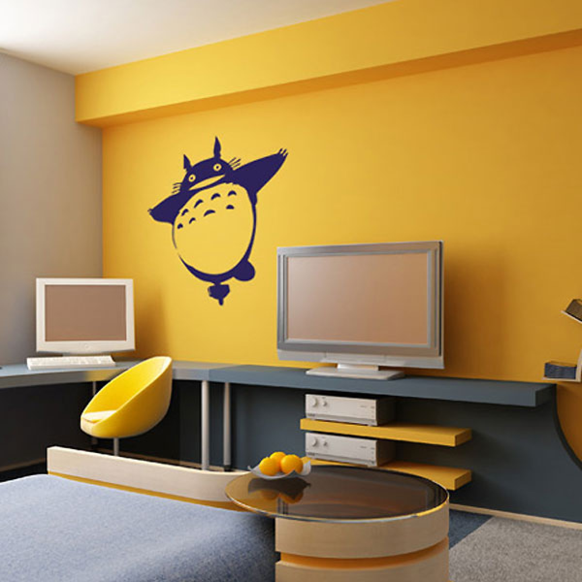 Totoro 1 Wall Sticker - Red Candy