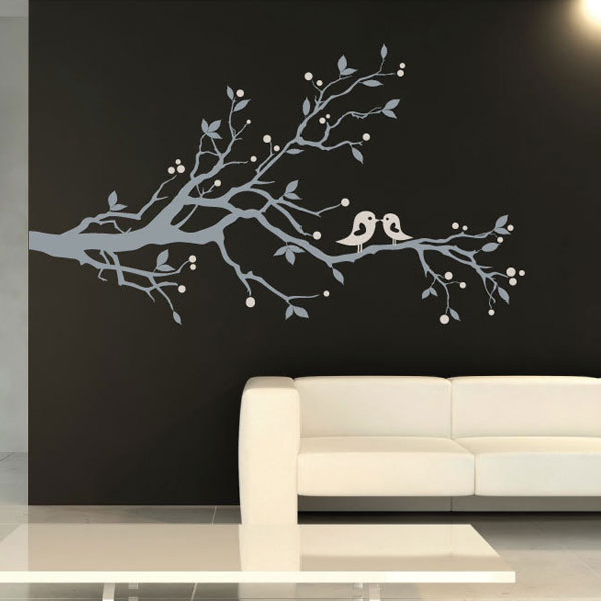 Birds and blossom wall sticker tree and bird wall decor amipublicfo Image collections