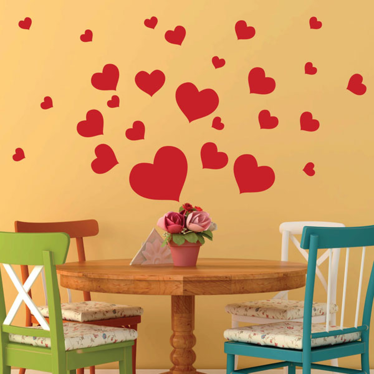 Graphic design wall stickers artistic wall stickers heart wall stickers amipublicfo Image collections