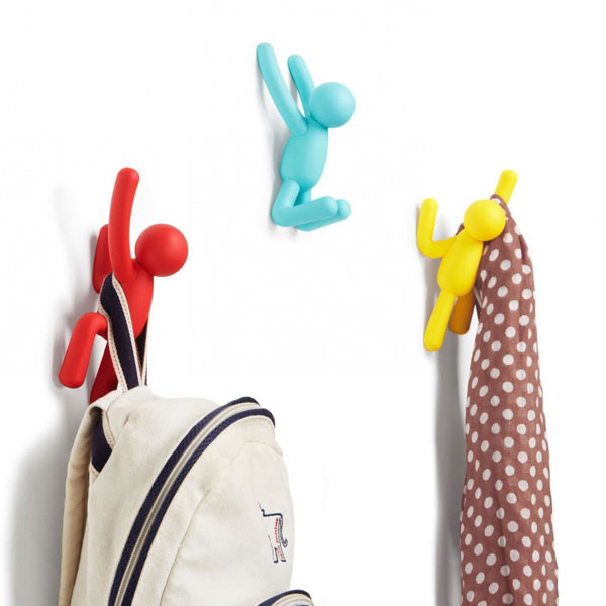 Umbra Buddy Hooks in Assorted Colours - colourful quirky hooks ...