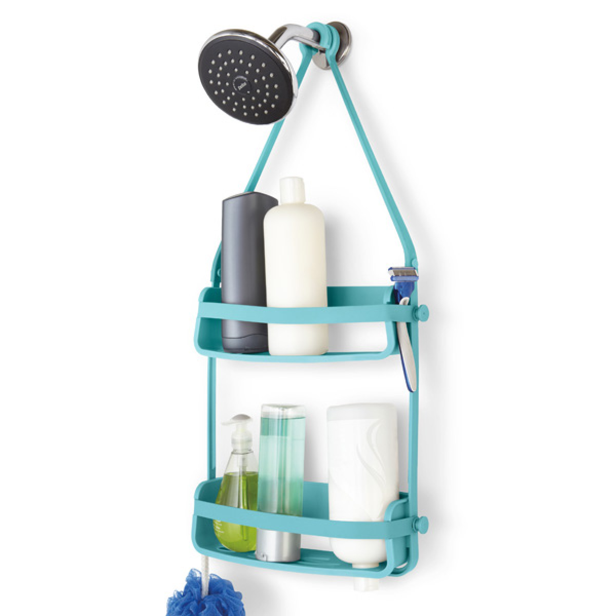 Umbra Flex Shower Caddy (Surf Blue) - Red Candy