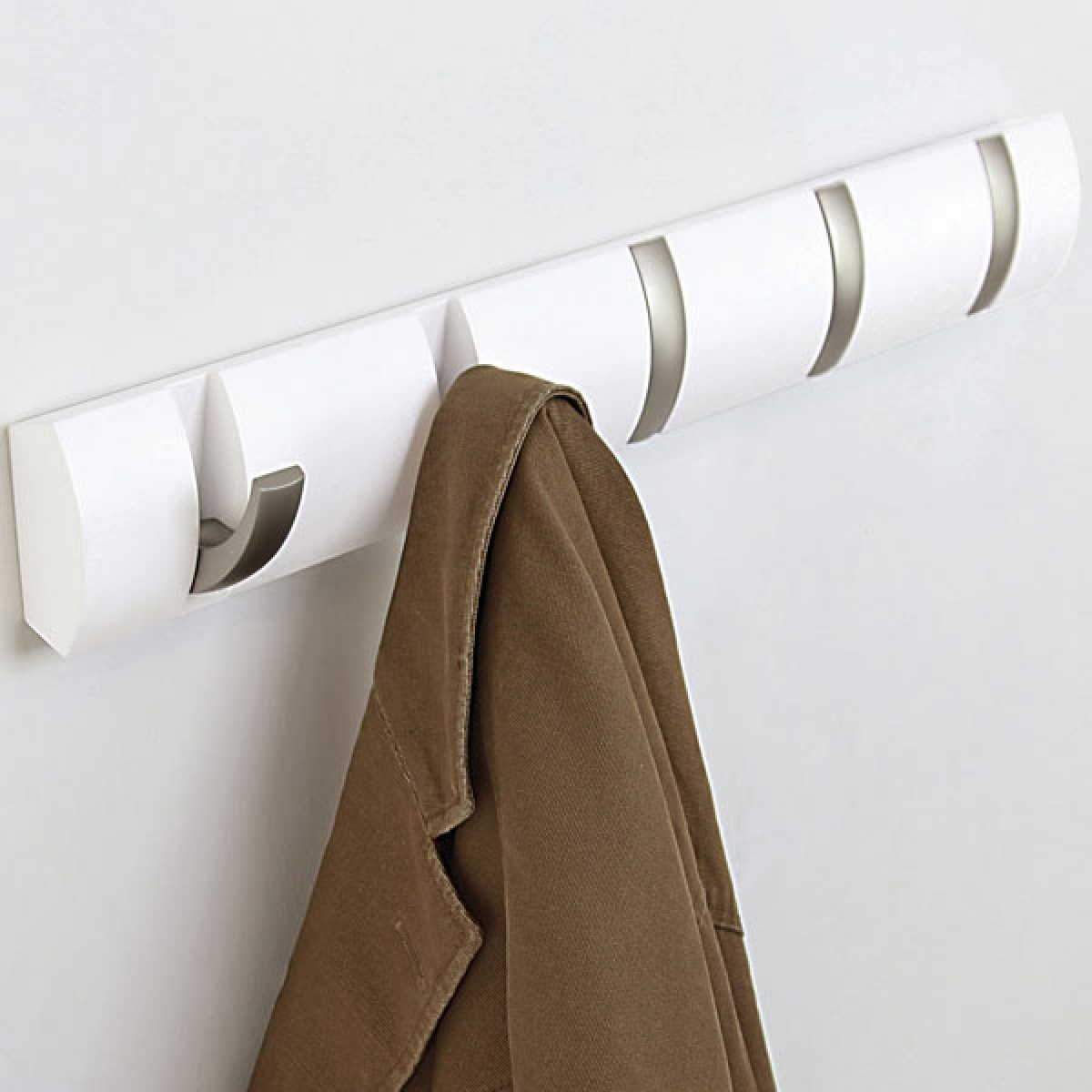 Umbra Flip Hook - White - 5 hook coat rack ...