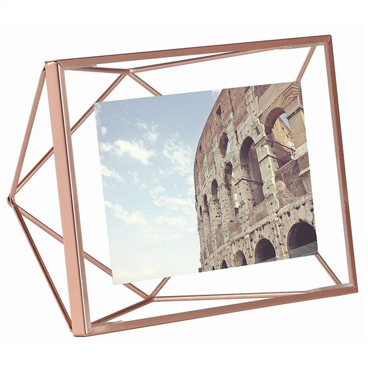 desk photo frames  photo stands  photo display trees - umbra prisma photo frame x  copper  wire picture frame
