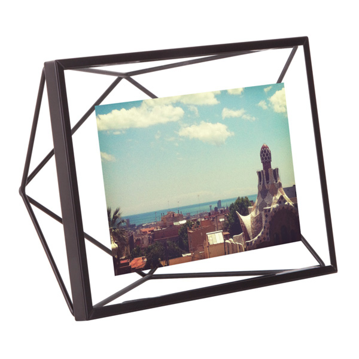 umbra products  photo frames  home accessories - umbra prisma photo frame x  black  geometric photo display