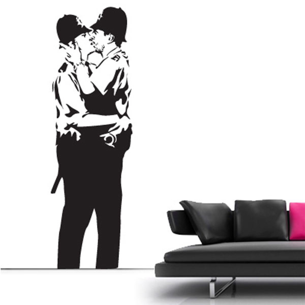 banksy wall stickers banksy wall decor banksy kissing cops wall sticker