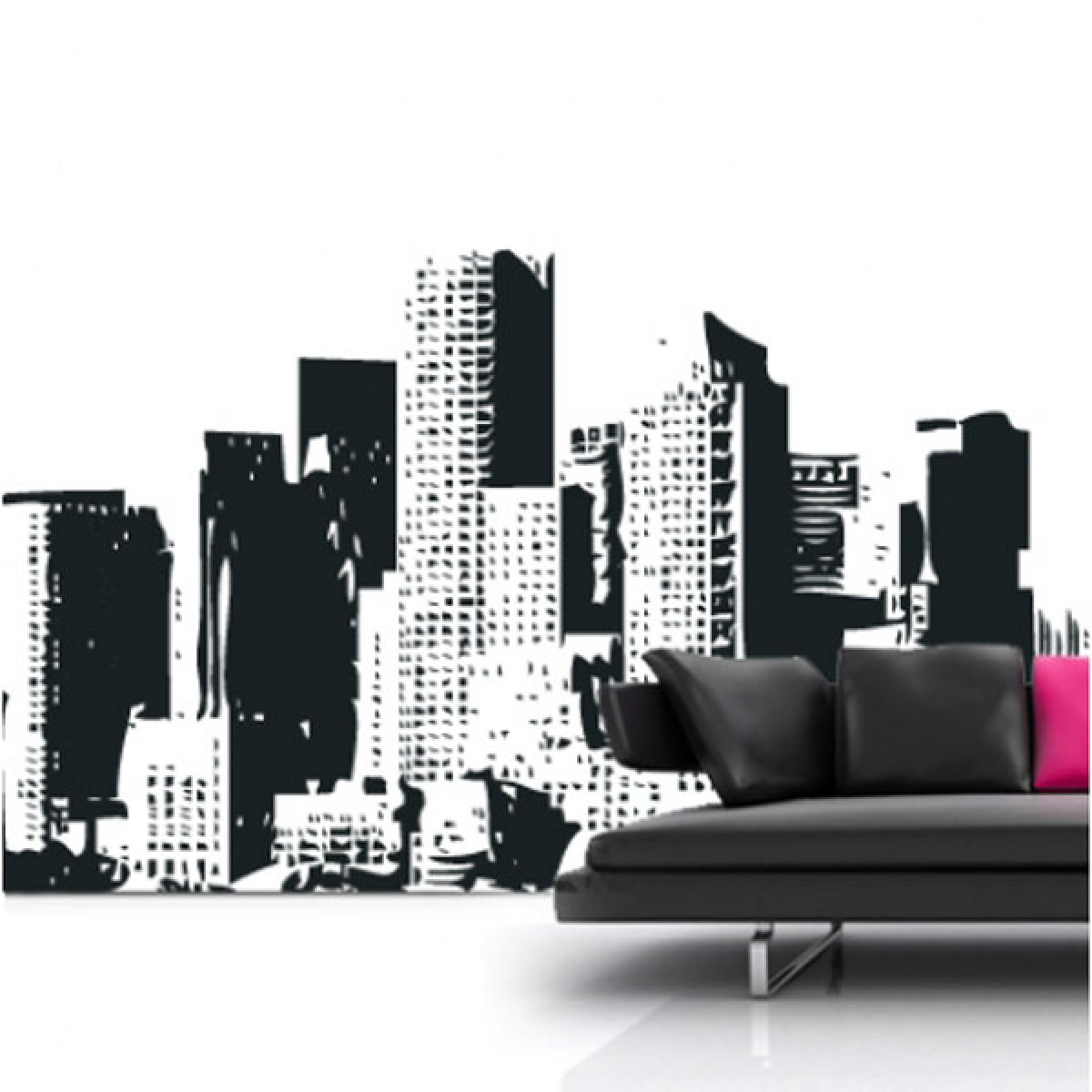 new york cityscape wall sticker red candy