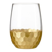 Honeycomb Glass Tumblers (Set of 4) - Red Candy