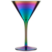 Slick Iridescent Champagne Glasses (Set of 4) - Red Candy