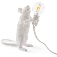 Seletti Step - Standing Mouse Lamp - Red Candy
