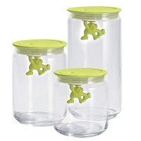 Alessi Gianni Storage Jar - yellow kitchen glass jar