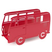 Campervan Magazine Rack - Red - retro magazine stand - Balvi