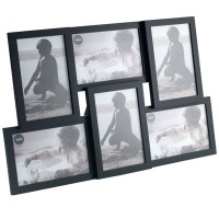 Isernia 6 Multi Photo Frame (Black) - Red Candy