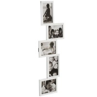 Isernia Tower Multi Frame - White multiple photo frame