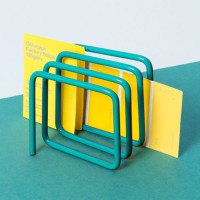 Block Letter Rack - turquoise modern post caddy