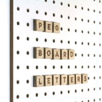 Block PegBoard Accessories - Letter Set - wooden letter tiles