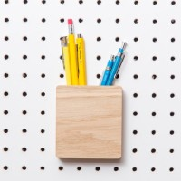Block PegBoard Accessories (Pen Pot) - Red Candy