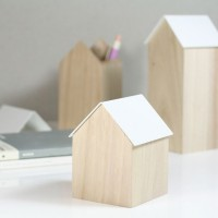 Block Storage House - White - 3 Sizes Available - trinket box