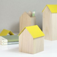 Block Storage House - Yellow - 3 Sizes Available - desk tidy