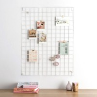 Block Wire Mesh Memo Board (White) - Red Candy