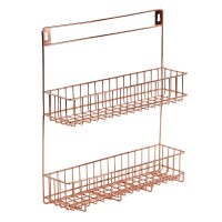 Lincoln Copper Spice Rack - wall-mounted spice holder