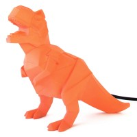T-Rex Orange Dino Lamp - Dinosaur Table Light - Disaster Designs