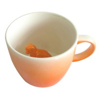 T-Rex Dino Mug - Orange Origami Dinosaur Cup - Disaster Designs