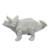 Triceratops Dino Mini LED Lamp (White) - Red Candy