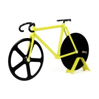 Fixie Pizza Cutter - Bumblebee - bike shaped pizza slicer - DOIY