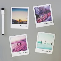Pola Magnetic Photo Frames (White) - Red Candy