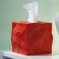 Essey Wipy Cube Tissue Box - red funky tissue holder